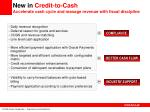 new in credit to cash accelerate cash cycle and manage revenue with fiscal discipline