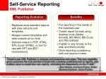 self service reporting xml publisher