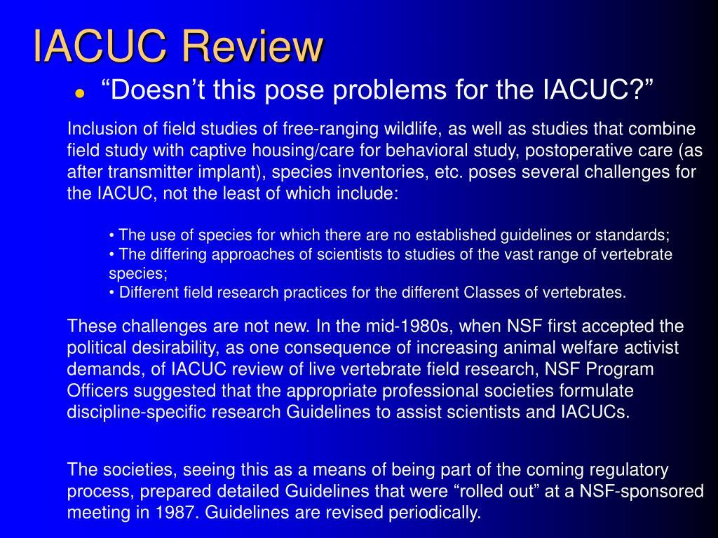 IACUC Review