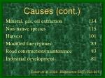 causes cont