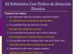 el subjuntivo con verbos de emoci n pract ca