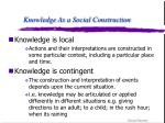 knowledge as a social construction9