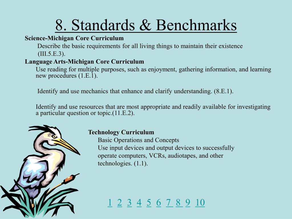 8. Standards & Benchmarks