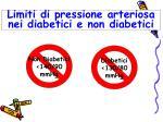 limiti di pressione arteriosa nei diabetici e non diabetici