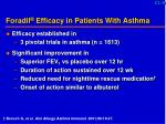 foradil efficacy in patients with asthma