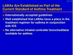 labas are established as part of the current standard of asthma treatment