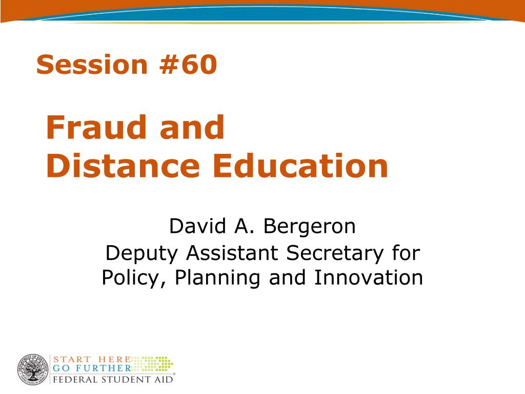 fraud and distance education l.