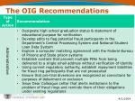 the oig recommendations7