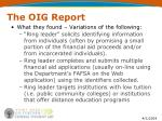 the oig report