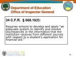 u s department of education office of inspector general30