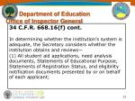 u s department of education office of inspector general31