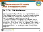 u s department of education office of inspector general32