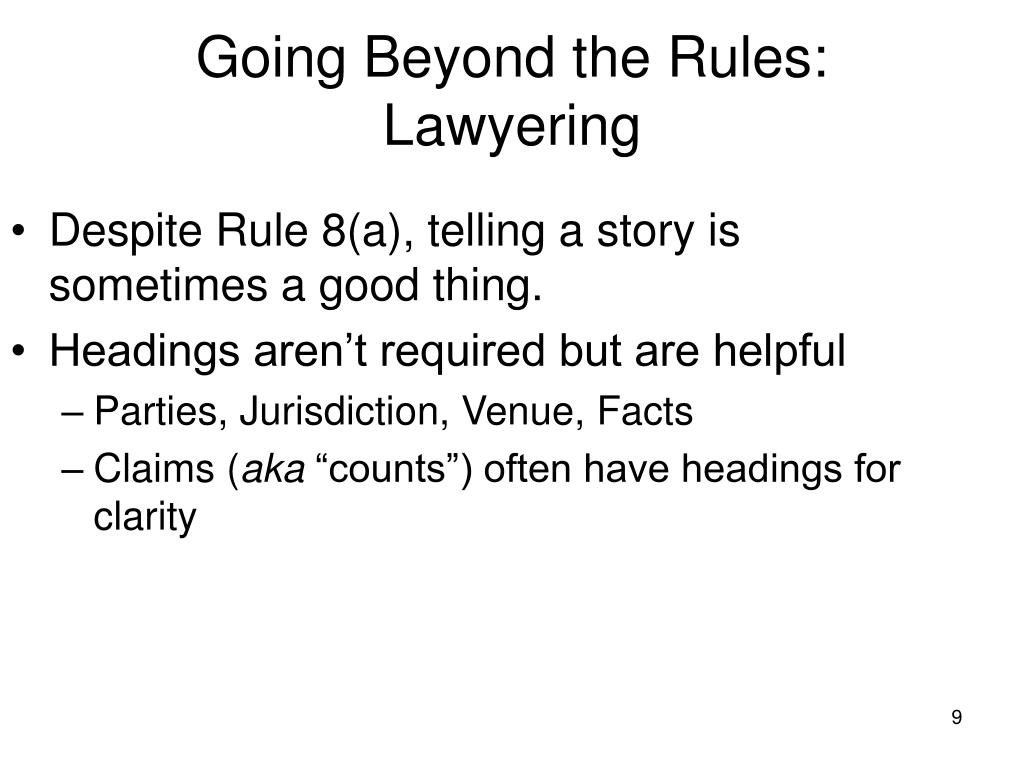 Going Beyond the Rules: Lawyering
