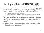 multiple claims frcp 8 e 2
