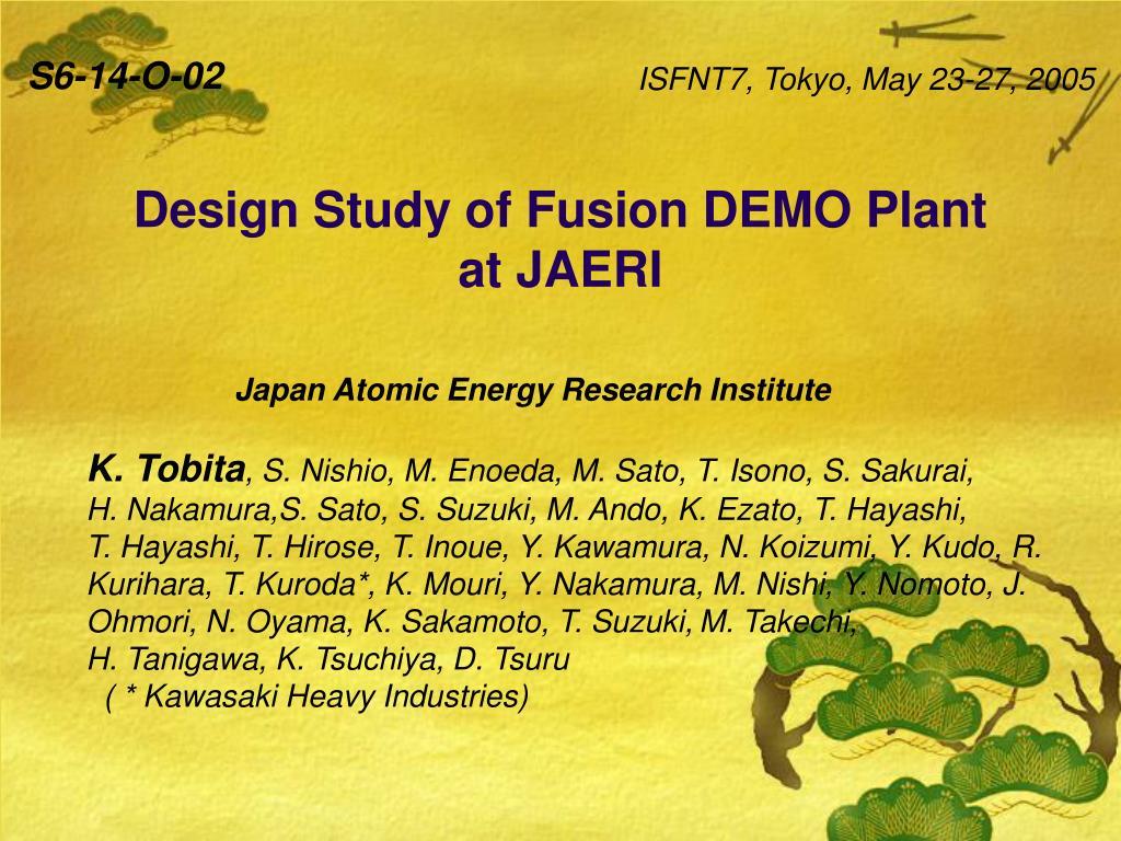 design study of fusion demo plant at jaeri l.