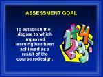 assessment goal