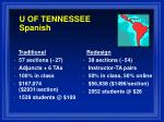 u of tennessee spanish