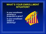 what s your enrollment situation