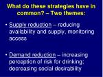 what do these strategies have in common two themes
