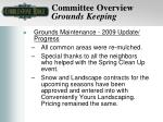 committee overview grounds keeping8