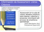 informaci n de assessment libros cl sicos