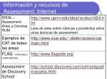 informaci n y recursos de assessment internet