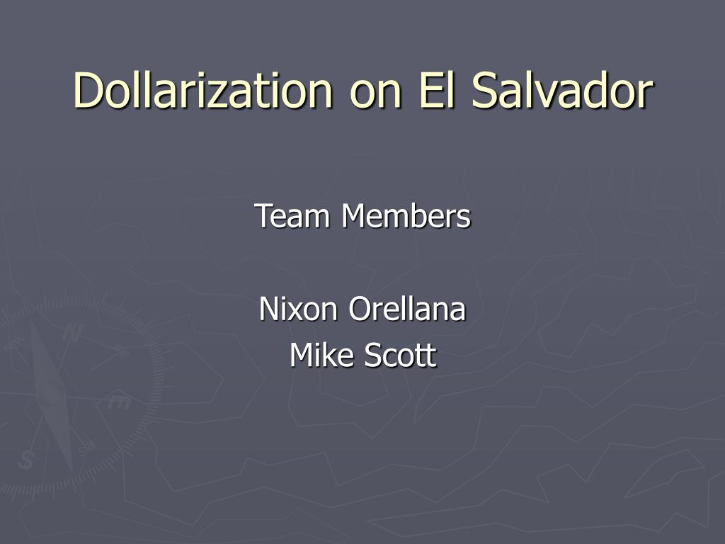 dollarization on el salvador l.