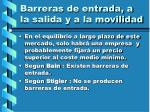 barreras de entrada a la salida y a la movilidad5