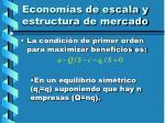econom as de escala y estructura de mercado27