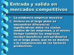 entrada y salida en mercados competitivos104