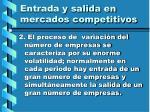 entrada y salida en mercados competitivos105