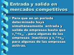 entrada y salida en mercados competitivos115