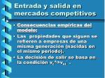 entrada y salida en mercados competitivos116