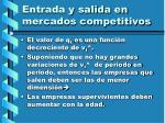 entrada y salida en mercados competitivos117
