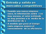 entrada y salida en mercados competitivos118