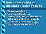 entrada y salida en mercados competitivos119