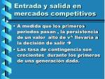 entrada y salida en mercados competitivos123