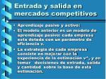 entrada y salida en mercados competitivos124