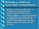 entrada y salida en mercados competitivos125