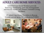 adult care home services