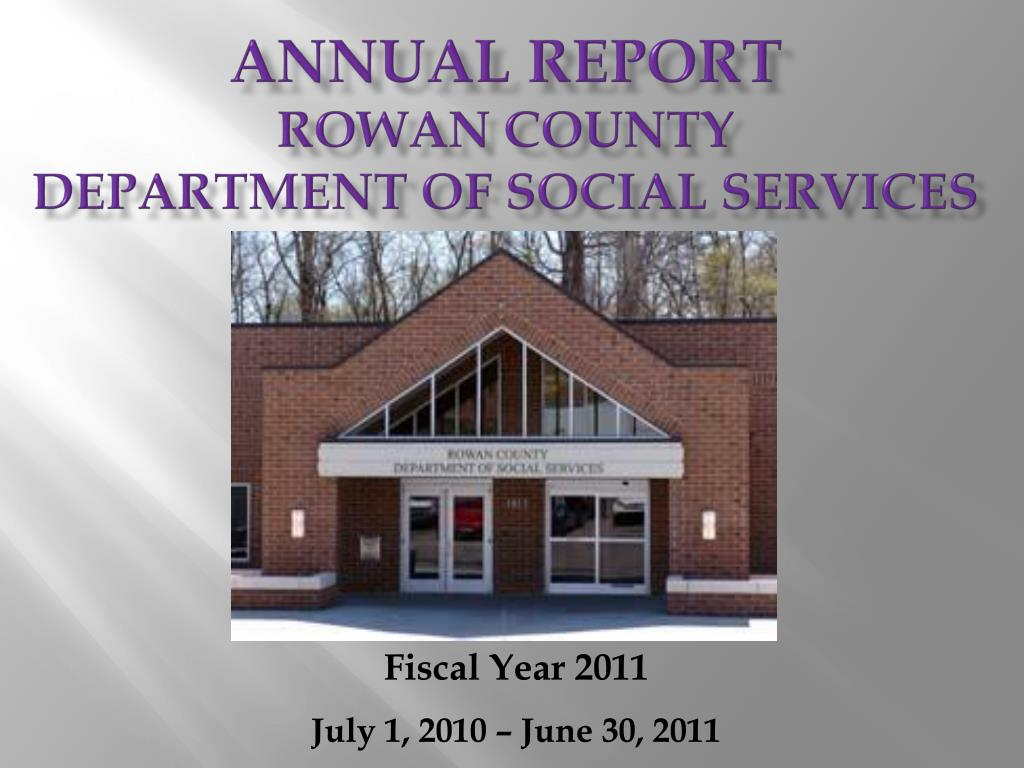 annual report rowan county department of social services l.