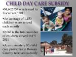 child day care subsidy49