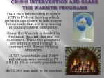 crisis intervention and share the warmth programs