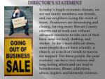 director s statement