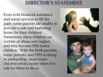 director s statement5