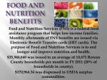food and nutrition benefits