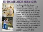 in home aide services