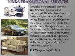 links transitional services