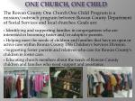 one church one child