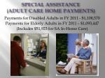 special assistance adult care home payments